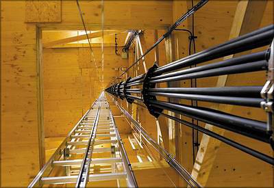 Процесс монтажа конструкций и внутренний вид башни Alnatura