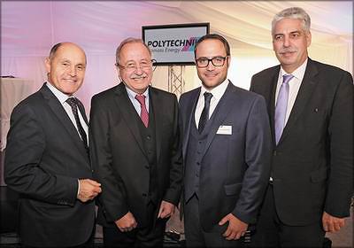 Слева направо: депутат от Австрийской народной партии (ÖVP) Вольфганг Соботка, Лео Ширнхофер, Лукас Ширнхофер, Министр финансов Австрии Ханс-Йорг Шеллинг