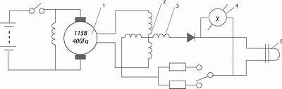 Рис. 2. Принципиальная электрическая схема регистрации крутящего момента