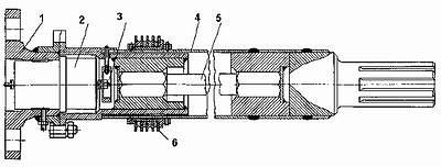 Рис. 3. Схема установки ЛВТ в карданной передаче