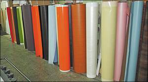 Образцы пленок, используемых для производства фасадов