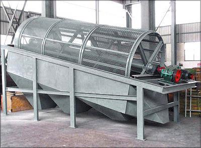 Рис. 9. Барабанная ситовая сортировка мягких отходов лесопиления и деревообработки
