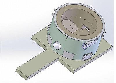 Рис. 13. Бетонная реторта теплогенератора производства ГК «АСТЕК» с отверстиями для подвода первичного воздуха