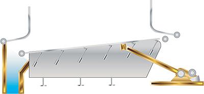 Рис. 7. Вибрационная решетка фирмы Babcock & Wilcox Vоlund A/S, Дания