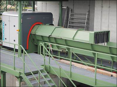 Рис. 14. Многосенсорный сканер Logeye 302 на заводе Kurekss Ltd, Латвия