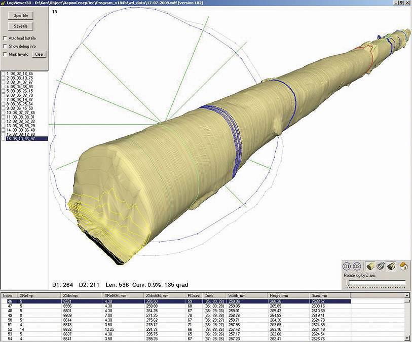 Рис. 8. Интерфейс 3D-сканера компании «Автоматика-Вектор»