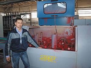 Начальник цеха производства строительных конструкций Дмитрий Попов