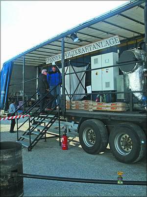 Газогенераторная установка Spanner на древесном топливе