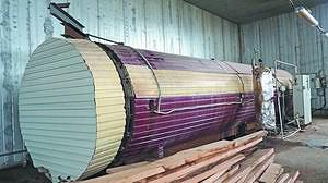 Установка для термообработки древесины