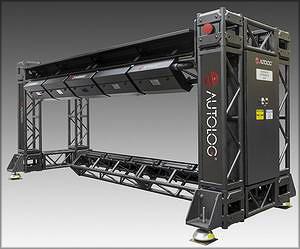 Рис. 10. У системы сканирования пиломатериалов фирмы Autolog имеется верхний и нижний ряды камер, нацеленных на конвейер под углом 45º
