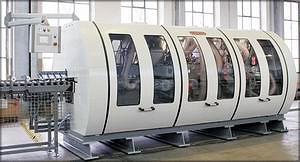 Рис. 6. Станок DUO6-12F для профилирования многослойного паркета (Gebrüder Schroeder Gmbh & Co. KG, Германия)