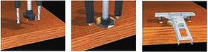 Рис. 7. Станок для установки четырех- шарнирных петель (Omal, Италия); операции, выполняемые на этом станке