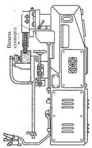 Рис. 15. Общий вид цепно-долбежного станка ДЦА-3 и пильной цепочки