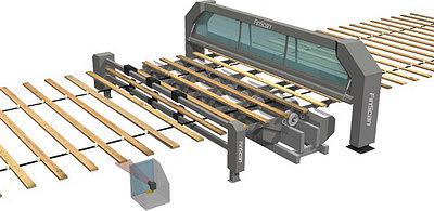 Рис. 8. Система FinScan со сканером BoardMasterNOVA, измерителем влажности MoistSpy и модулем сканирования торцов EndSpy