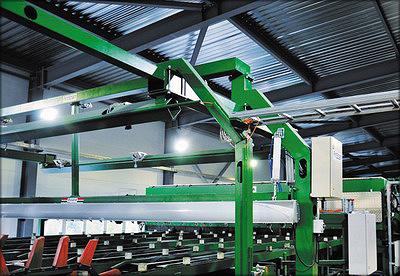 Рис. 15. Сканер FinScan BoardMaster и триммер линии сортировки пиломатериалов на заводе «Лесплитинвест»