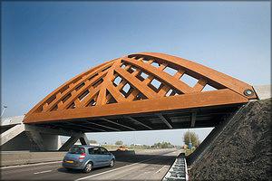 Рис. 13. Мост в Нидерландах из древесины Accoya