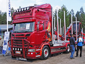 Лесовоз Scania