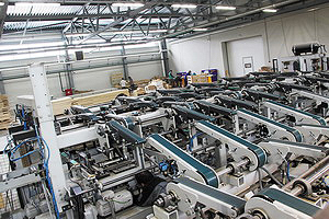 Выходная механизация с автоматической сборкой минипакетов