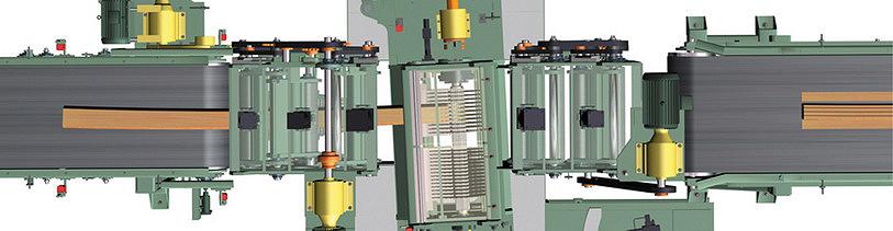 Рис. 5. Технология криволинейного пиления HSS. Разработка компании USNR (Söderhamn Eriksson)