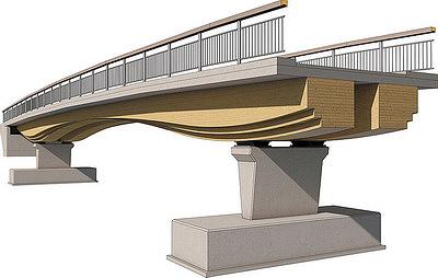 Рис. 3. Мост, построенный фирмой Schaffitzel Holzindustrie в Нидерландах
