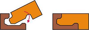 Рис. 4. Универсальная замковая система типа uniclick на напольном паркетном покрытии