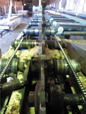 Рис. 2 а, б. У пилы, установленной на круглопильном станке, форма зубьев «прямой-трапеция» со стружколомом; пила предназначена для раскроя подсушенной хвойной древесины и не годится для пиления осиновой древесины