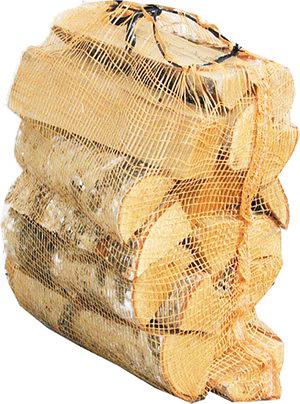 Рис. 6. Дрова в сетках. Возможна укладка на палеты или в ящики