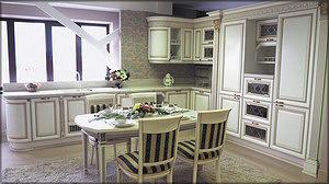 Кухонный гарнитур с фасадами из массива производства ФМ «Стадис»