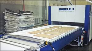Пресс Burkle (Германия). Цех производства фасадов с покрытием из пленки ПВХ