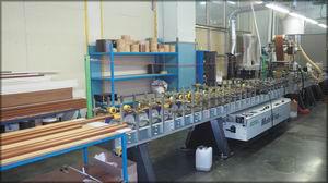 Профилеоблицовочная установка Duspohl MultiWrap 400S (Германия). Цех деревообработки