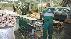 Форматно-раскроечный станок Altendorf F45 (Германия). Цех деревобработки