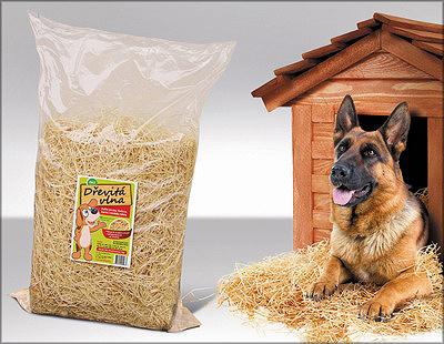 Рис. 3. Использование древесной шерсти в качестве подстилки для животных