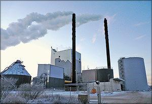 Рис. 1. Rovaniemi Energia – ТЭС г. Рованиеми производит тепло и электроэнергию из биотоплива, распределяет тепло в районе Рованиеми
