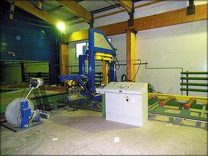 Участок упаковки пиломатериалов в защитную пленку на базе станка Fromm