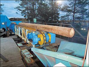 Участок окорки и подачи сырья в лесопильный цех