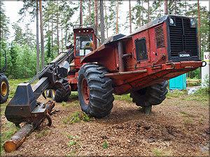 Ветераны лесозаготовок: валочная машина Scania