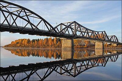 Рис. 11. Мост в г. Флиса