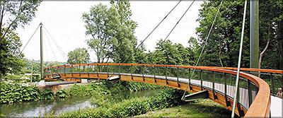 Рис. 16. Пешеходный мост в г. Ломар