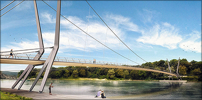Рис. 18. Мост через р. Рейн (трехмерная модель)
