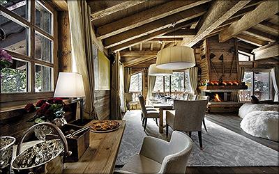 Рис. 1. Современное шале из старой древесины во Французских Альпах