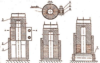 Рис. 3. Технология сборки втулки из секторов прессованной древесины