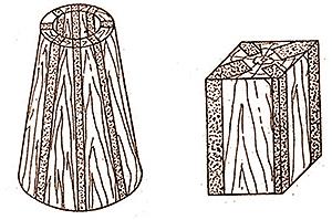 Рис. 5. Фасонные детали узлов трения из уплотненной древесины