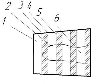Рис. 17. Схема построения линии между необработанными зонами