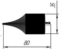 Рис. 4. Форма модернизированного датчика для импедансного дефектоскопа АД-60К