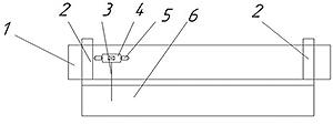 Рис. 7. Схема установки для дефектоскопии круглых лесоматериалов, общий вид