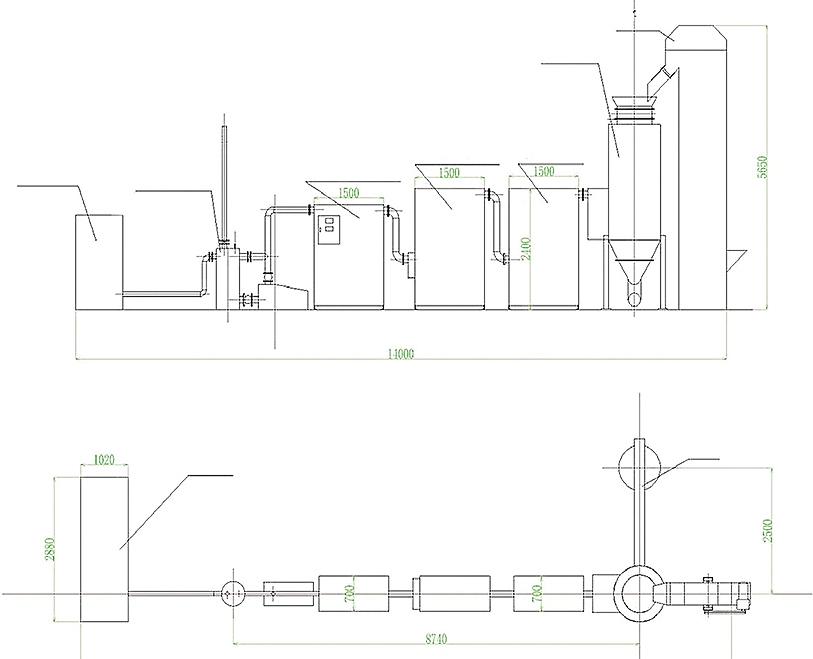 Схема и технические характеристики газогенераторной установки