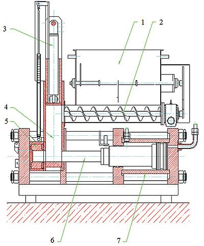 Рис. 2. Схема гидравлического пресса