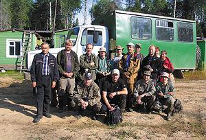 Участники курса на вахте лесозаготовительной компании «Лузалес»