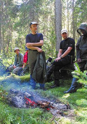 Финские лесники в Спаспорубском массиве девственных лесов