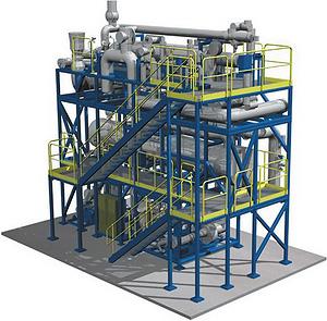 Рис. 2. Модуль главного пара и модуль теплообменника установки BioPower 5